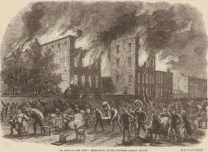 The riots in New York destruction of the coloured orphan asylum