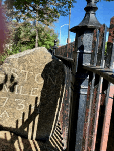 boston miles stone marker