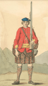 42nd regiment soldier 1742
