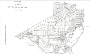Kayaderosseras Patenty Survey Map – Don Carpenter
