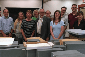Members of the New Paltz Historical Documents focus group