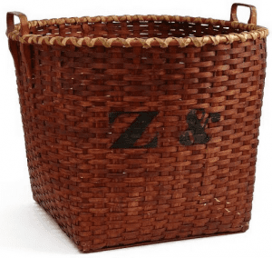 Shaker Basket on loan from the permanent collection of the Shaker Museum