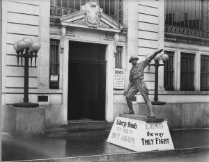 WWI Liberty Bond Statue in Utica