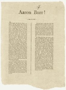 Aaron Burr! 1801