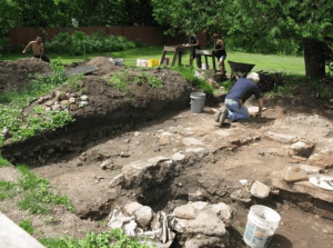 Excavations at Mt Vernon Glass Co site