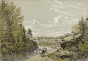 Little Falls New York by William Rickarby Miller 1852