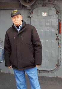 Michael Marko aboard USS Slater