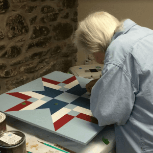Pat Dominie quilt making