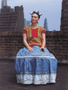 Frida in New York 1946 provided by Brooklyn Museum