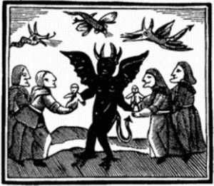Mediaeval European Witches with Devil
