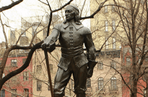 Peter Stuyvesant statue in Manhatten
