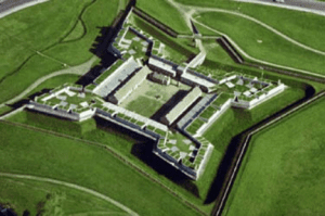 Areal view of Fort Stanwix National Monument
