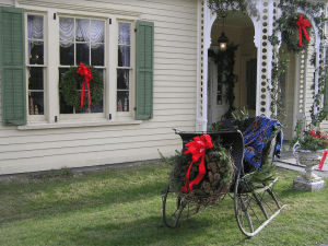 Newburgh Historical Society holiday decoration