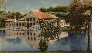 Lake house in Albany's Wasington Park