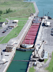 The Eisenhower Locks in Massena