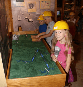 Town of Neversink students enjoying the activities in the Tunnel Toil and Trouble exhibition