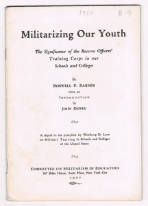militarizing our youth pamphlet