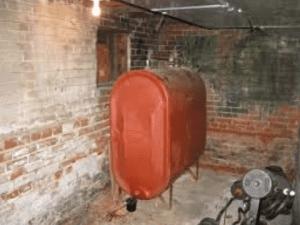 old oil tank