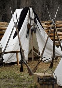 Enlisted men's camp and tent courtesy Revwar75