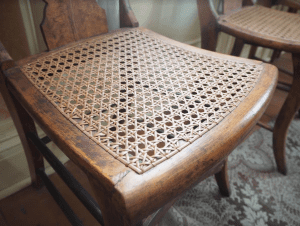 chair with caned seat