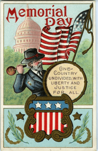 Early 1900s Memorial Day Postcard