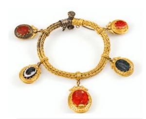 Hardstone Intaglio Bracelet