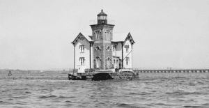 The Bergen Point Lighthouse in New Jersey