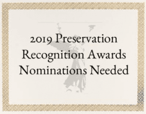 2019 preservation recognition awards
