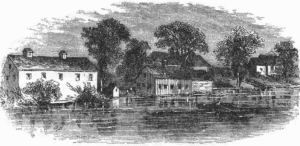Engraving from Harpers Magazine of Williams cheese factory