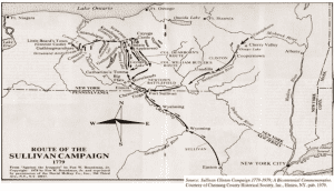 Route of the Sullivan Campaign