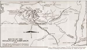 Route of the Sullivan Campaign