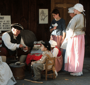 reenactors at old stone fort museum