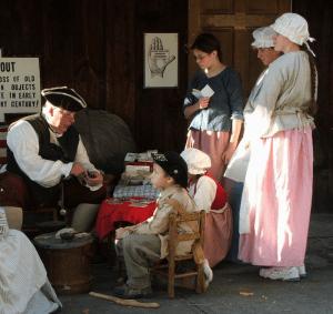 reenactors at old stone fort museum