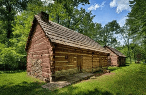 Revolutionary War huts of the Massachusetts troops at the New Windsor Cantonment provided