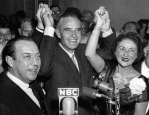 Victory celebration for the election of Averell Harriman as governor of New York