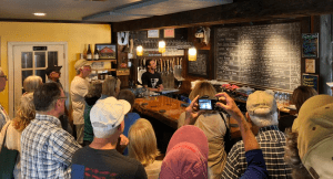 AARCH tour attendees visiting Ausable Brewing Company