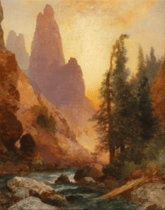 Above Tower Falls Yellowstone by Thomas Moran Courtesy of Guild Hall
