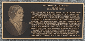 Ann Smiths Dedication Plaque