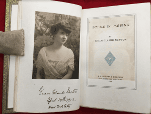 Grace Clarke Newton in her book Poems in Passing 1916