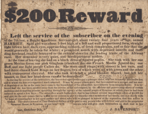 Reward Poster Courtesy Onondaga Historical Association