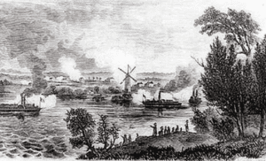 View of the Battle of Windmill Point courtesy Library and Archives Canada