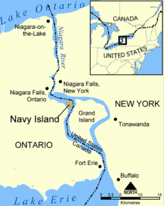 map of the location of Navy Island