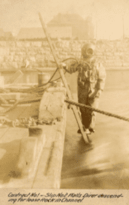 unnamed NYS diver in 1898 courtesy Craig Williams