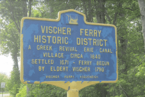 vischer ferry historic district sign