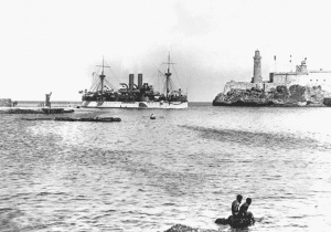 USS Maine in Havanna Harbor in 1898