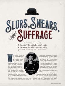 slurs smears and suffrage