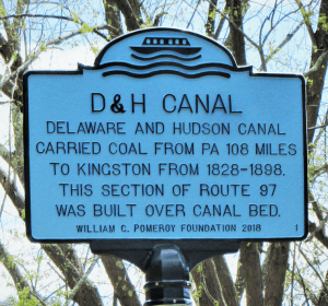 D&H Canal marker provided by Pomeroy Foundation