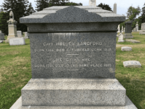 Grave of Capt Holden Langford provided by Newburgh Historical Society