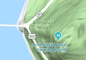 Location of Anthonys Nose courtesy Google Maps