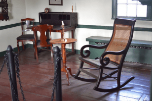 Rocking chair owned by Edgar Allan Poe by Via Perkins